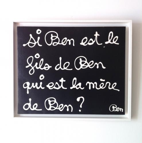 BEN  (Ben Vautier) b.1935-