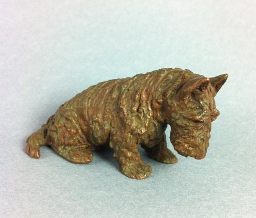 Bronze Scottish Terrier by Marguerite Kirmse
