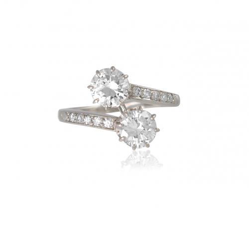 Antique Two Stone Diamond Ring