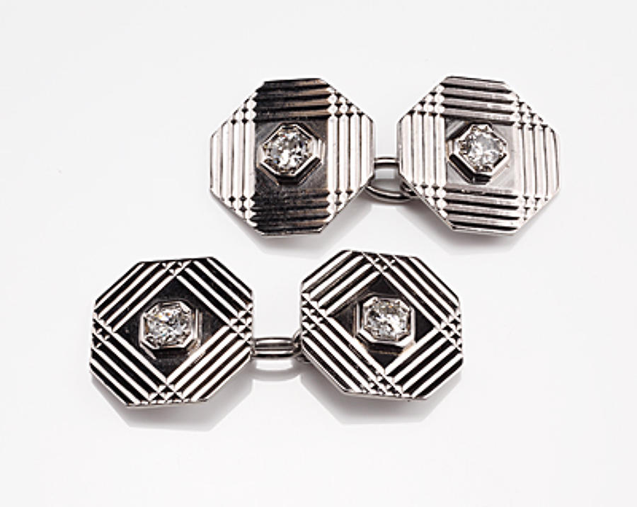 Platinum and diamond vintage cufflinks