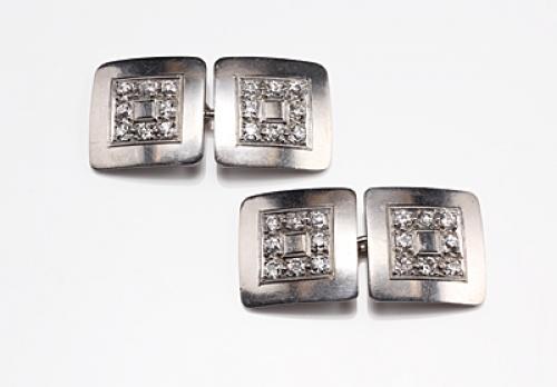 Diamond and Platinum Vintage Cufflinks