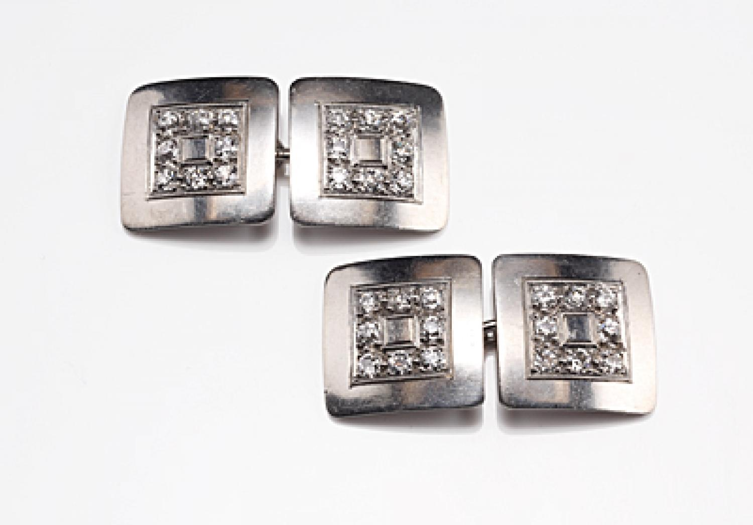 Diamond and Platinum Vintage Cufflinks