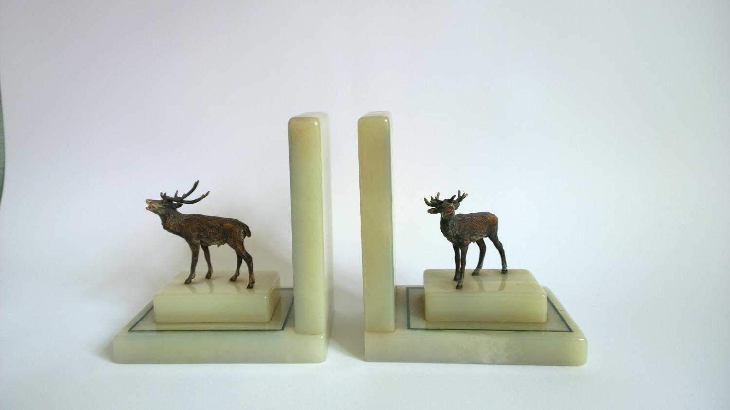 Bronze Deer Bookends