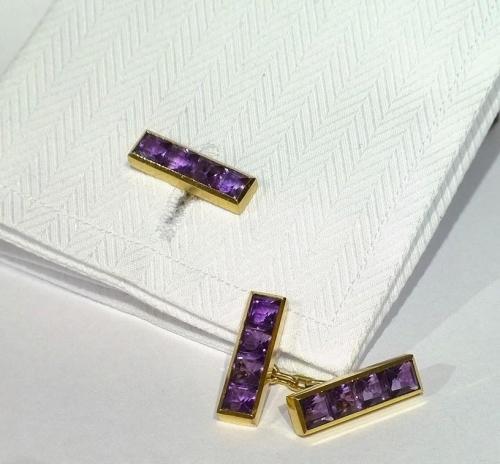 Vintage amethyst cufflinks