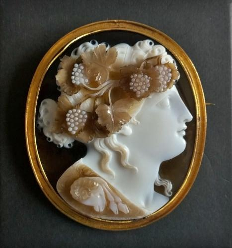 Carved Cameo Brooch