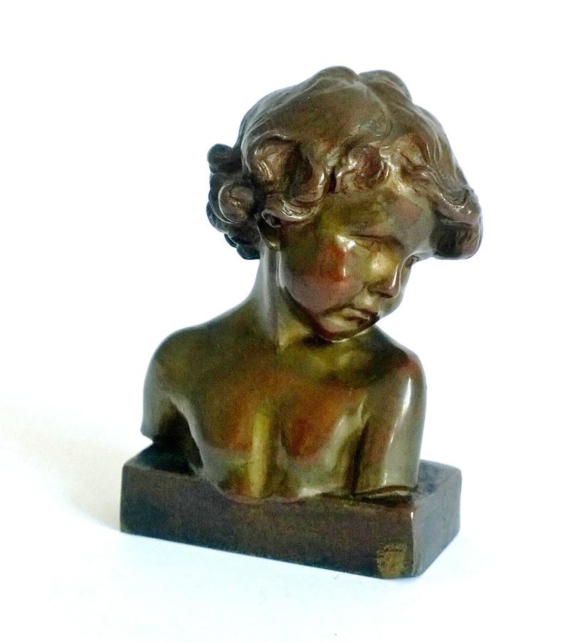 Bronze bust by Jean-Marie Camus