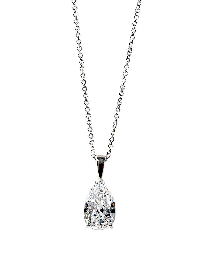 Diamond pear shaped Pendant