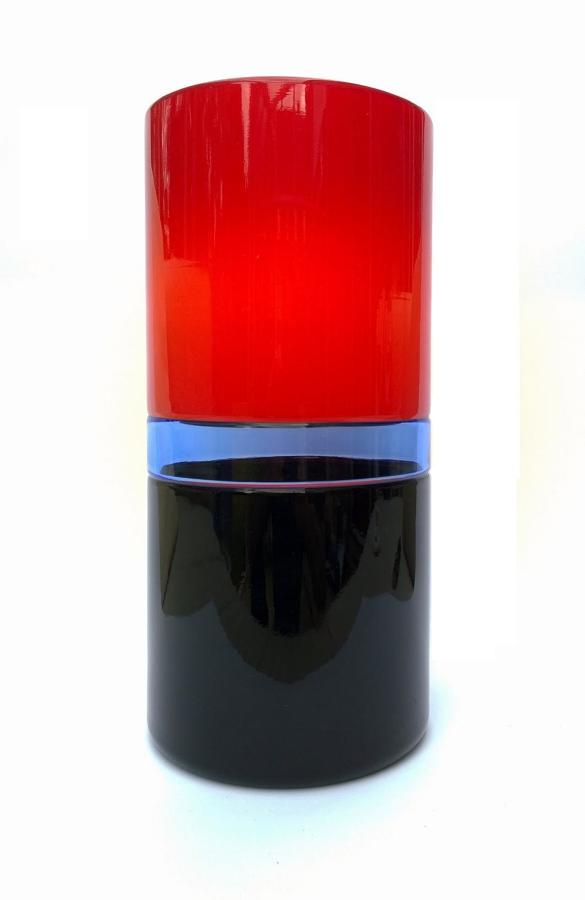 Venini Tuuli red glass vase