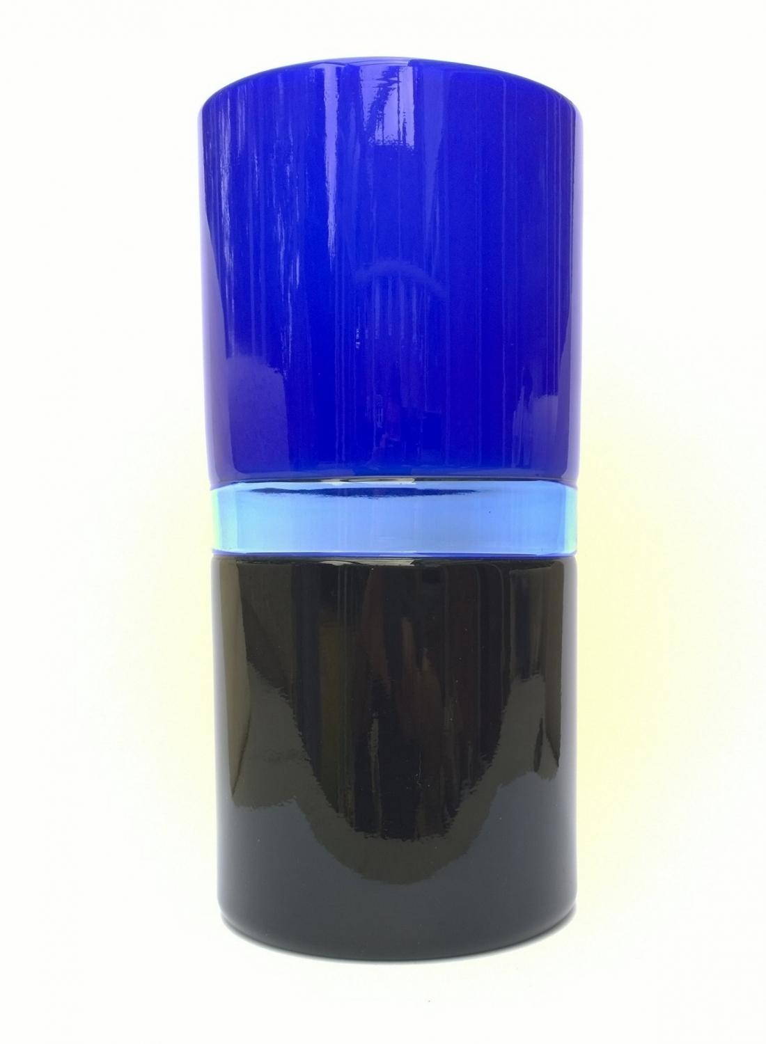 Venini Tuuli blue glass vase