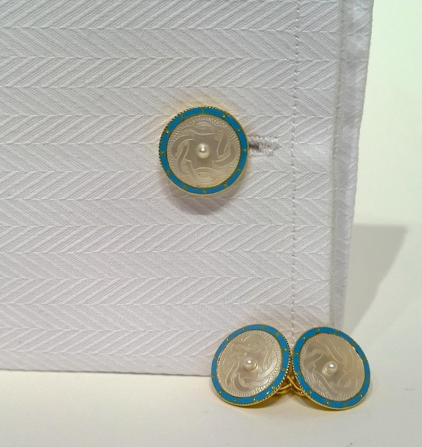 Mother of Pearl Antique Cufflinks