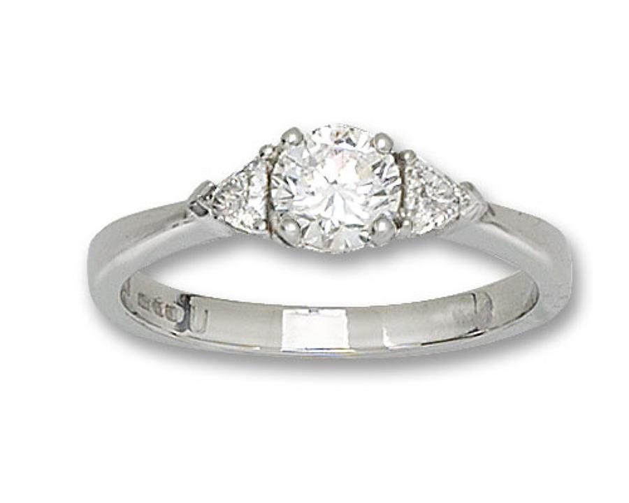 Diamond and Platinum 3 Stone Ring