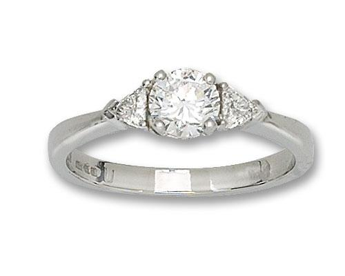 Diamond and Platinum 3 Stone Ring