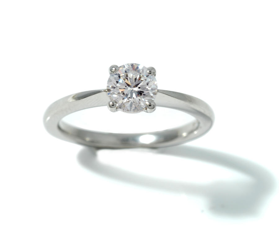 Diamond and Platinum solitaire ring