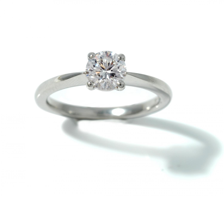 Diamond and Platinum solitaire ring