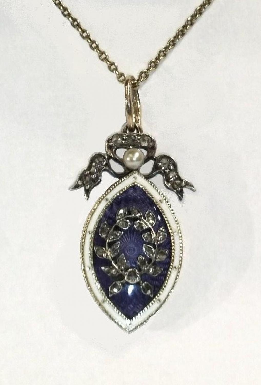 Diamond & Enamel Pendant