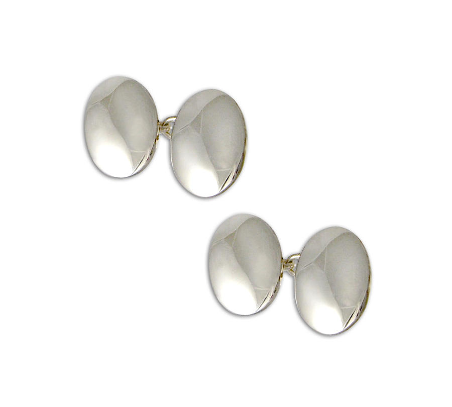 Silver Domed Cufflinks