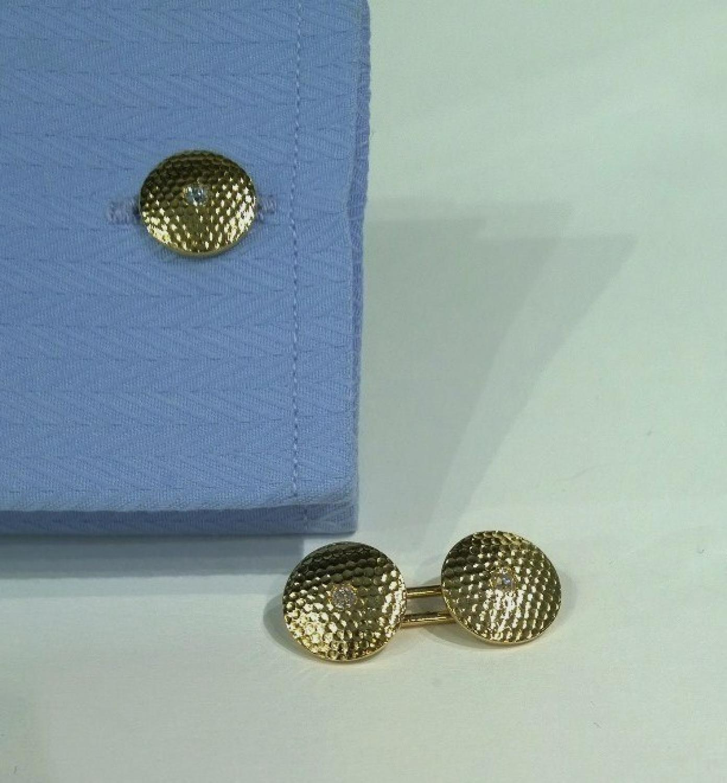 18ct gold & diamond cufflinks