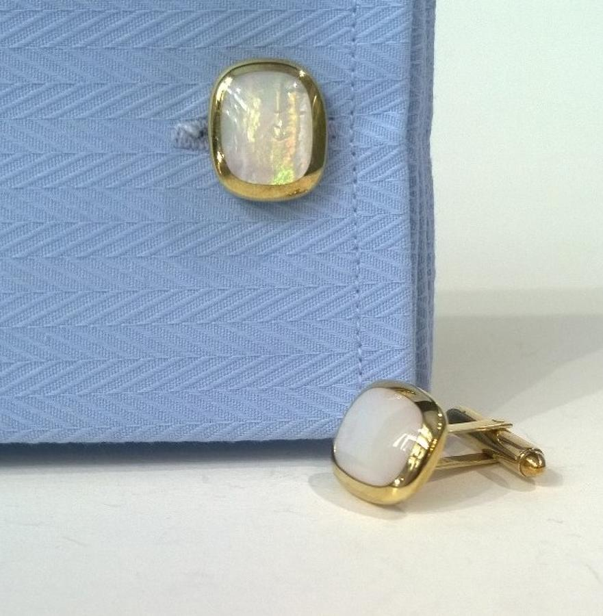 Gold and Mother of Pearl Cufflinks