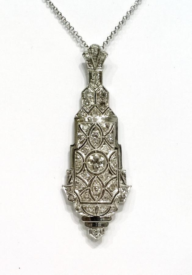 Art deco platinum pendant c 1930