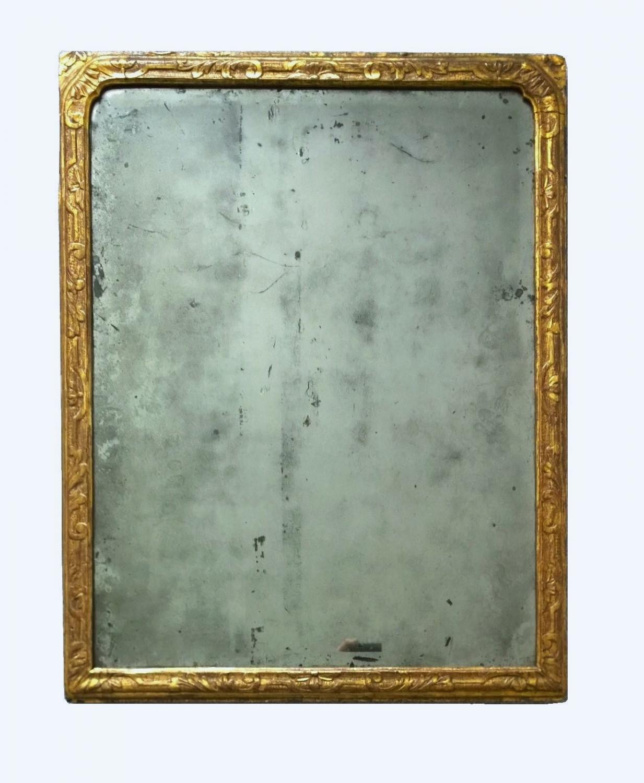 Queen Anne gilt wood mirror c.1710