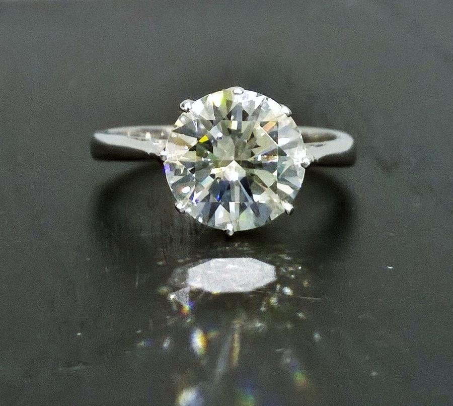 3.20 carat diamond ring