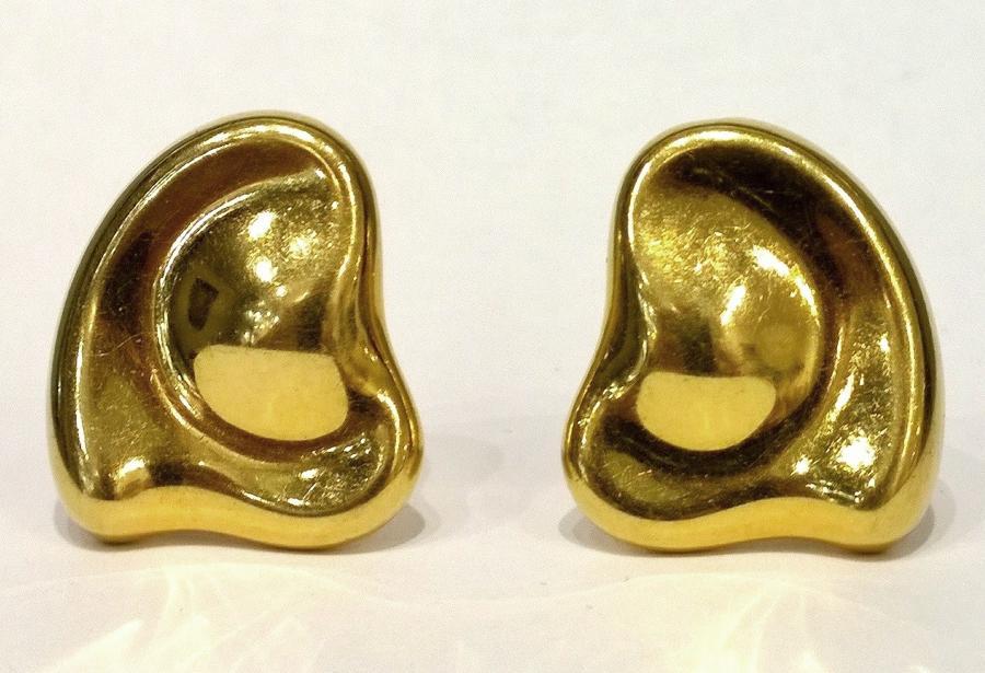 18 ct gold Tiffany & Co earrings