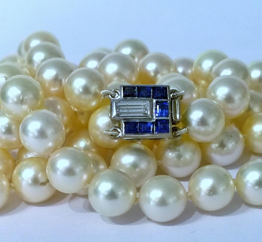 Art deco pearl necklace