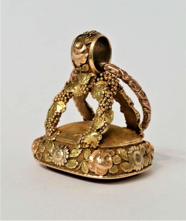 Regency gold fob seal