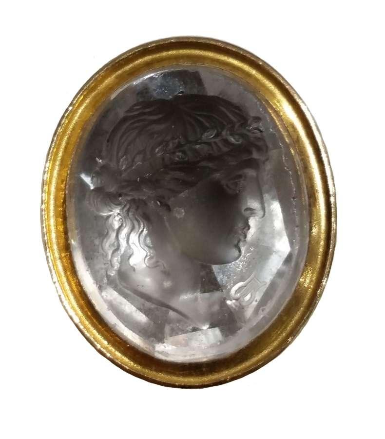 Rock crystal intaglio seal. 1790