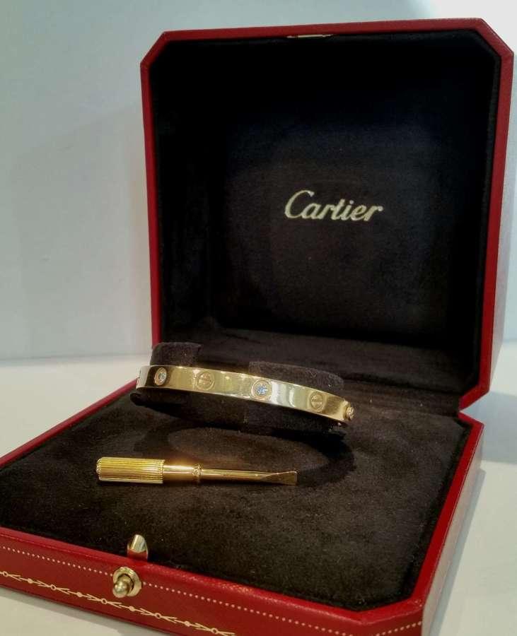 Cartier Love bangle with four diamonds