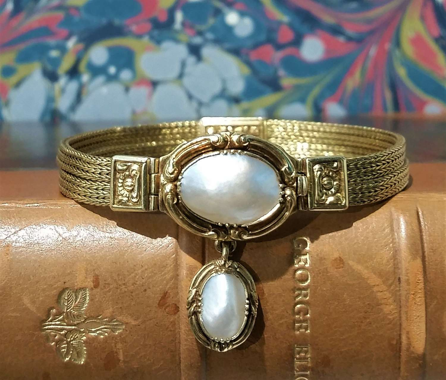 Antique French gold and pearl bracelet c.1830