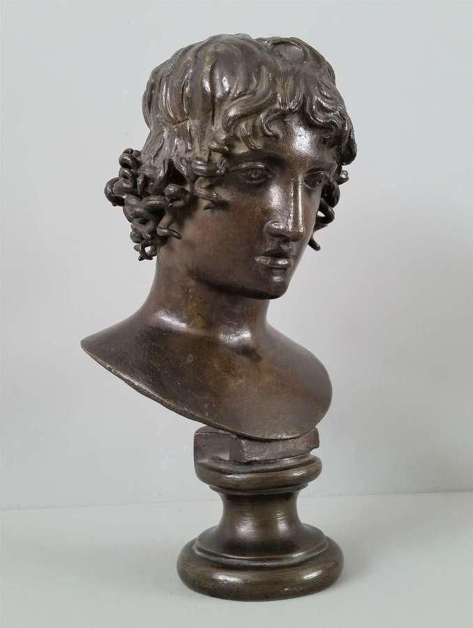 Bust of Mellephebe - Eros as a young boy bronze